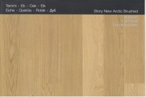 Паркетная доска KARELIA DAWN OAK STORY 138 BRUSHED NEW ARCTIC